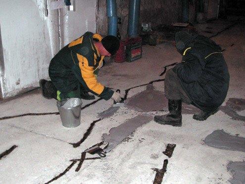 Ремонт пола из бетона