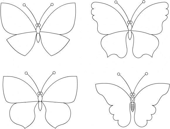 Как украсить стену бабочками