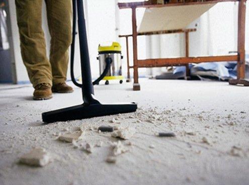 Как убрать строительную пыль