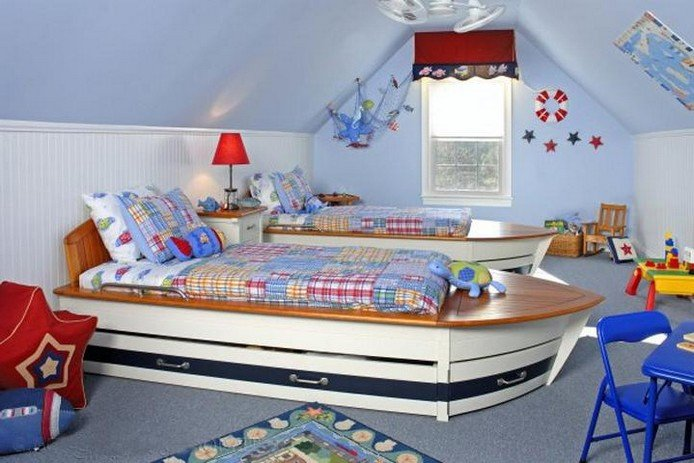 Дизайн детской комнаты для двоих