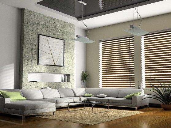 Дизайн гостиной с 2-мя окнами