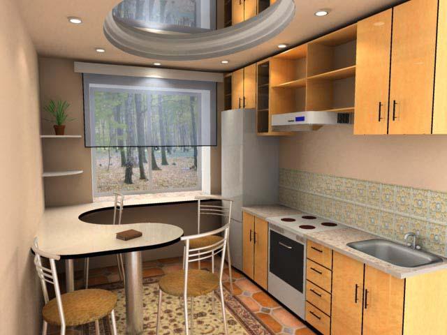 Как сделать недорогой ремонт кухни 6 кв м