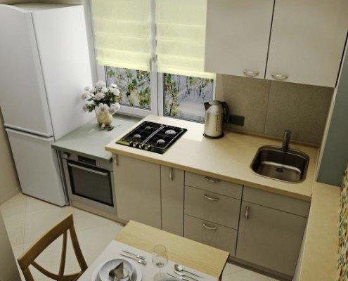 Как сделать недорогой ремонт кухни, 6 кв м