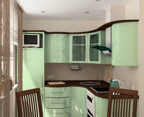 Дизайн ремонта кухни 6 кв м