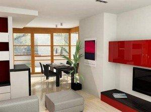 Дизайн гостиной столовой