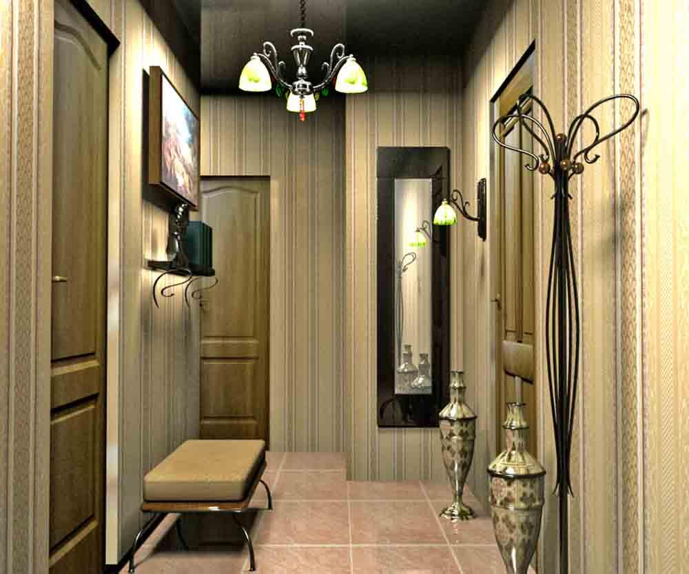 дизайн длинноватого коридора в квартире
