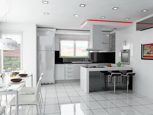 дизайн кухни с телеком