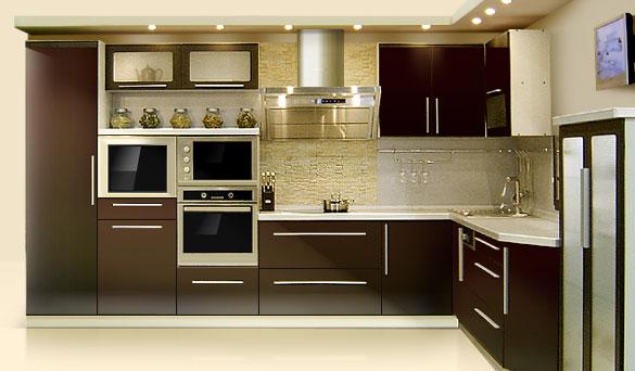 дизайн кухни хайтек