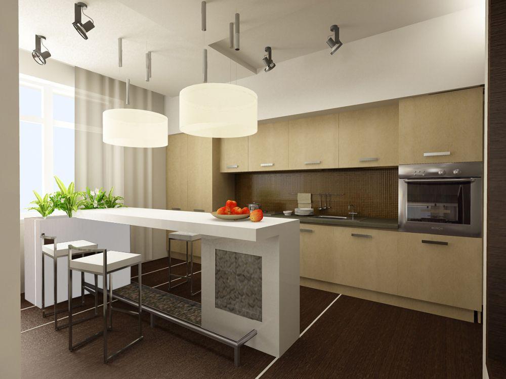 интерьер кухни обои