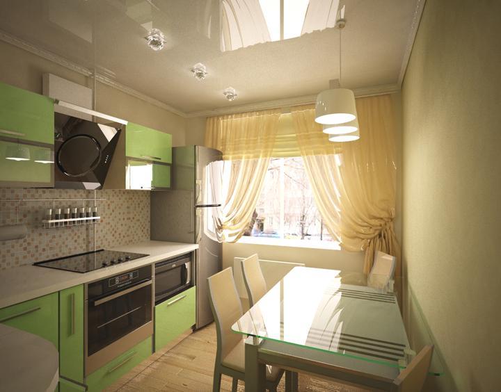 Кухня дизайн 8 метров