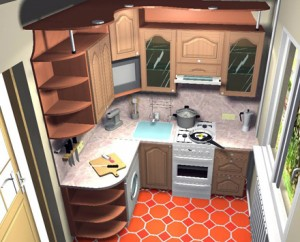 Ремонт на кухне 6 метров