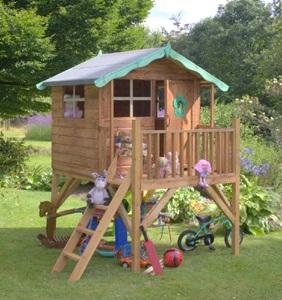 Элегантный домик в качестве детского уголка для развлечений и игр